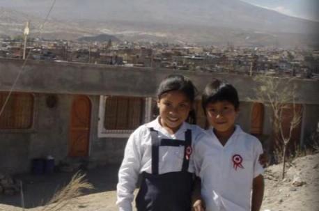 Schoolchildren from a slum