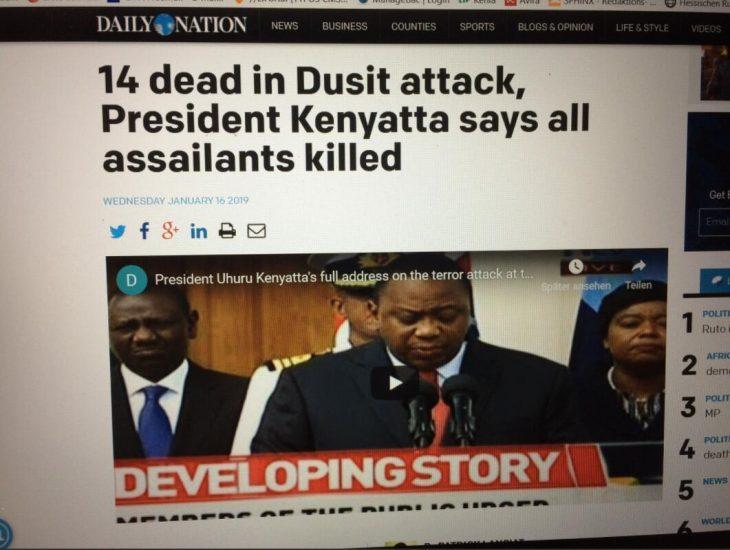 Screenshot Daily Nation January 16, 2019