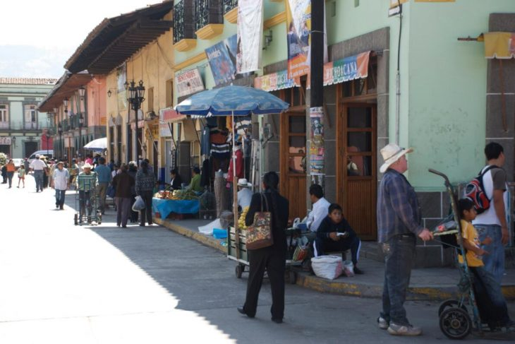 Shopping street in San Cristóbal, Chiapas
