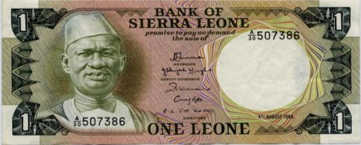 Siaka Stevens on an old bank note