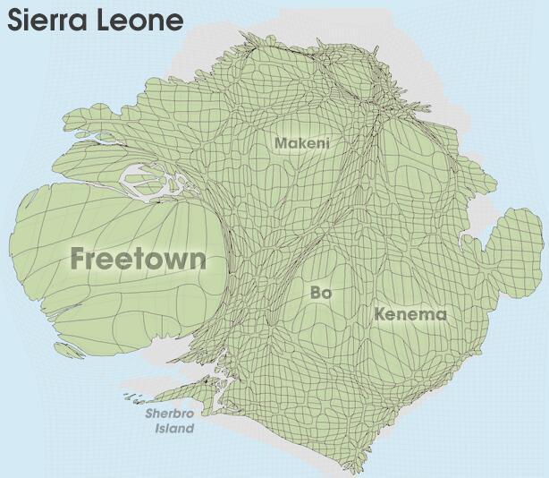 Sierra Leone Population distribution