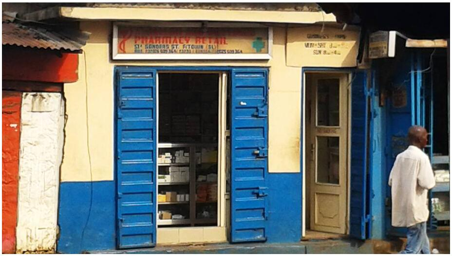 Small pharmacy in Freetown