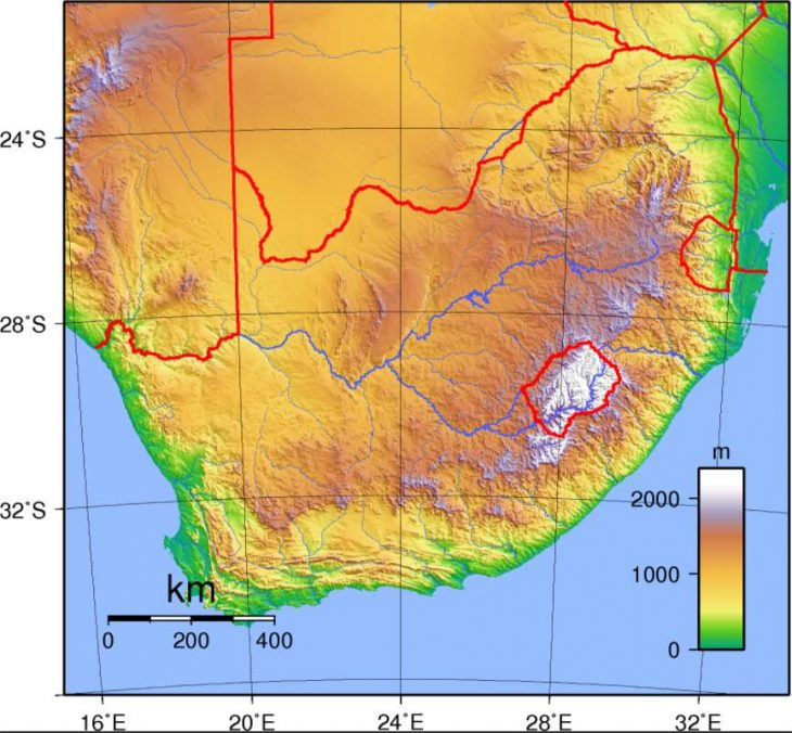 South Africa's topography