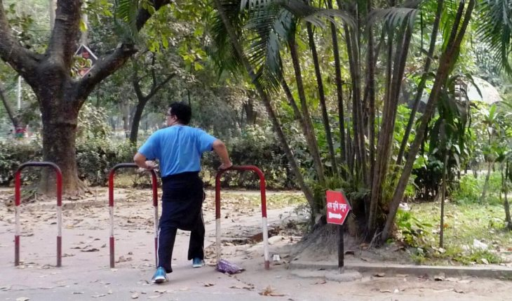 Sports activities in one of the public parks