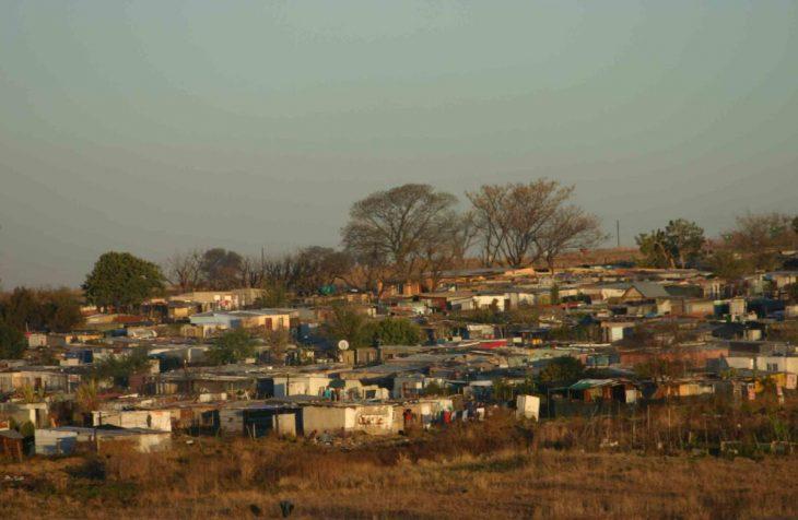Squatter settlement near Johannesburg