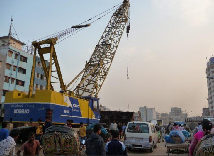 Start of construction of a flyover near Badda