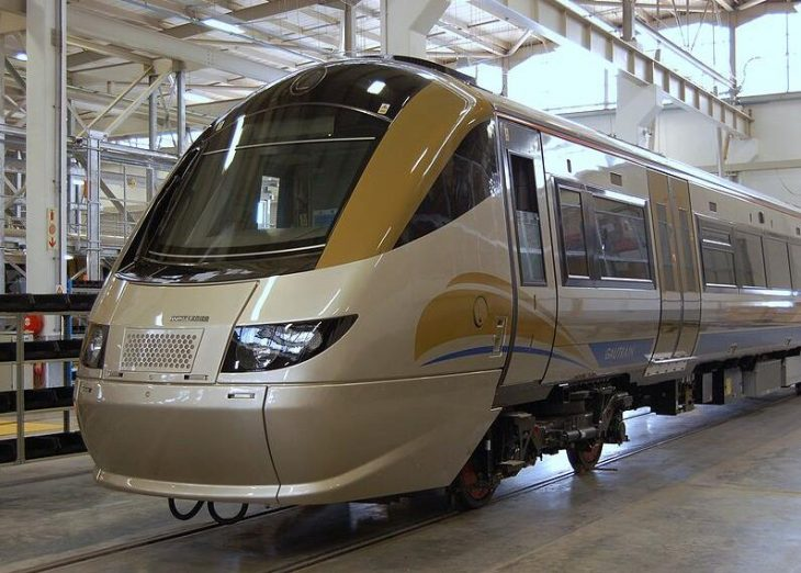 The Gautrain in the depot