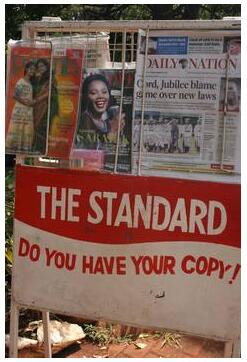 The Standard and Daily Nation are the leading daily newspapers