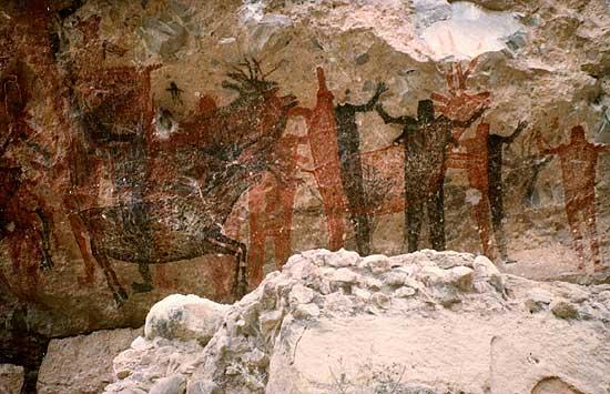 The cave of La Pintada, Baja California Sur
