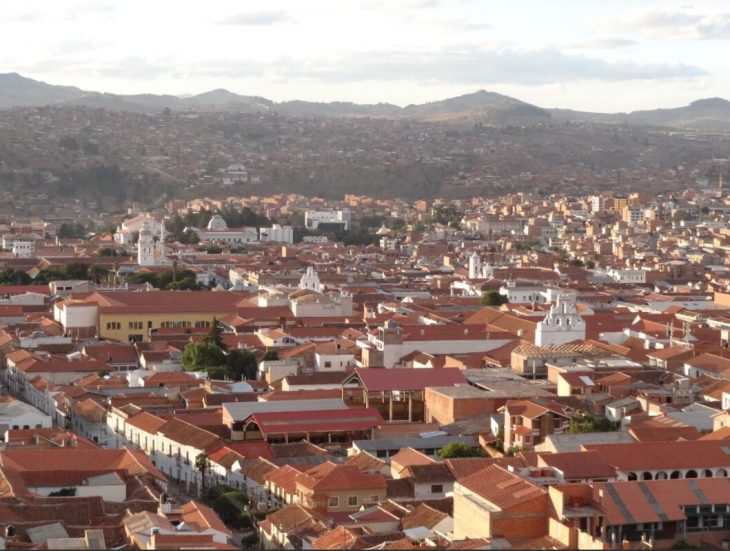 The center of the official capital Sucre