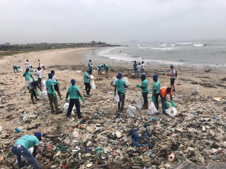 The cleaning activities of committed environmental activists on the beaches of Ghana continue unabated