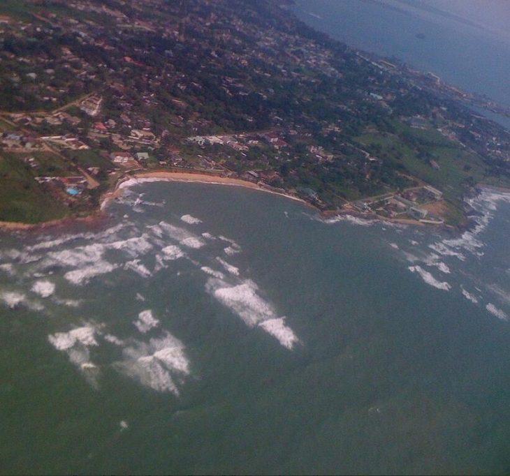 The coast in front of Sekondi-Takoradi