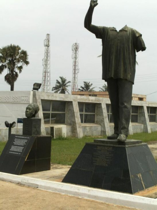 The destroyed Nkrumah statue also externally sealed the end of the Nkrumah era