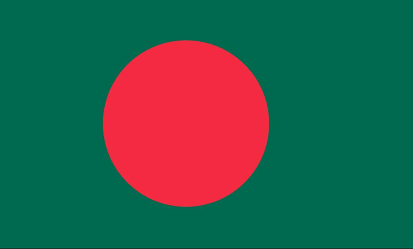 The flag of Bangladesh