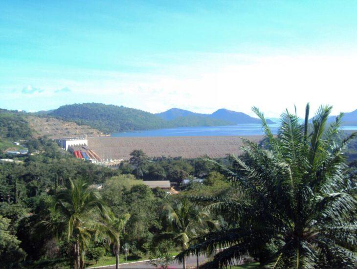 The huge Akosombo dam