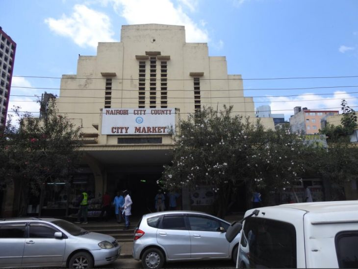 The old market hall in the city of Nairobi