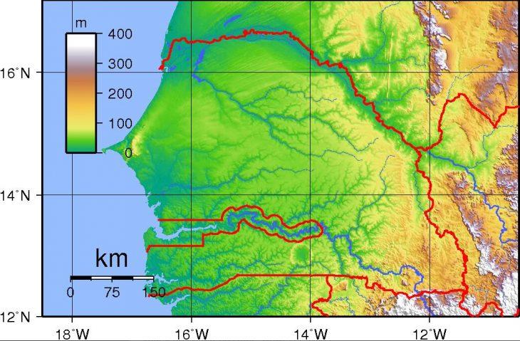 Topography of Senegal