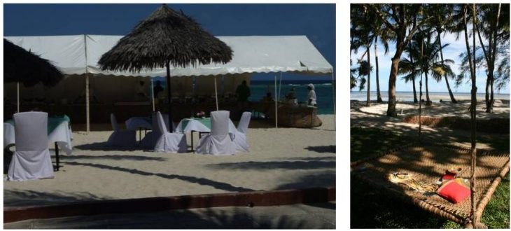Upscale mass tourism in Diani Reef