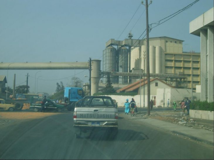View of cement works