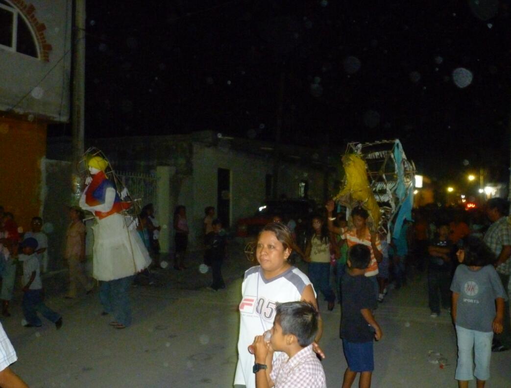 Village festival with children