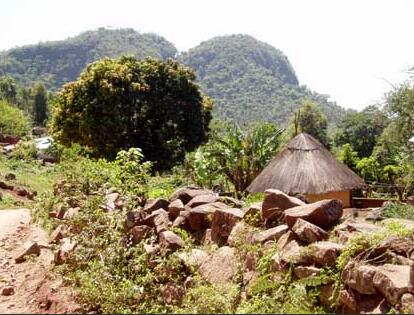 Village in the east of the DR Congo