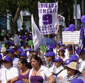 Women's demonstration in Mexico City