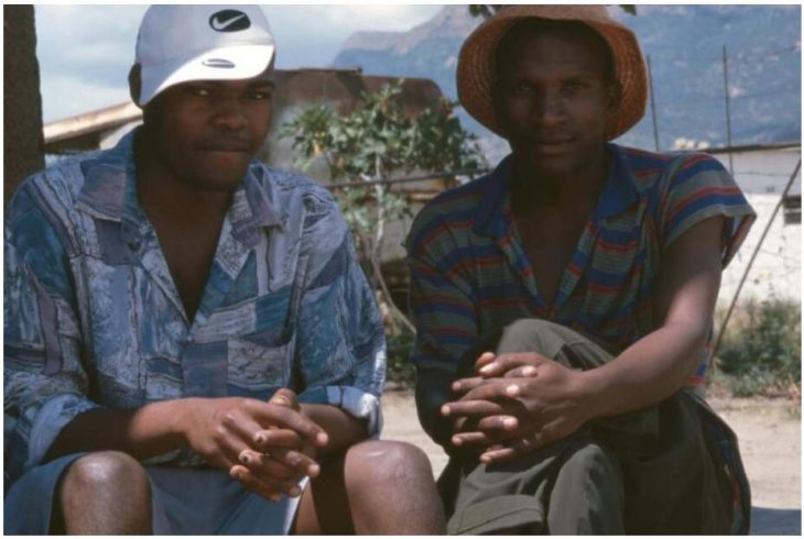 Young men in South Africa