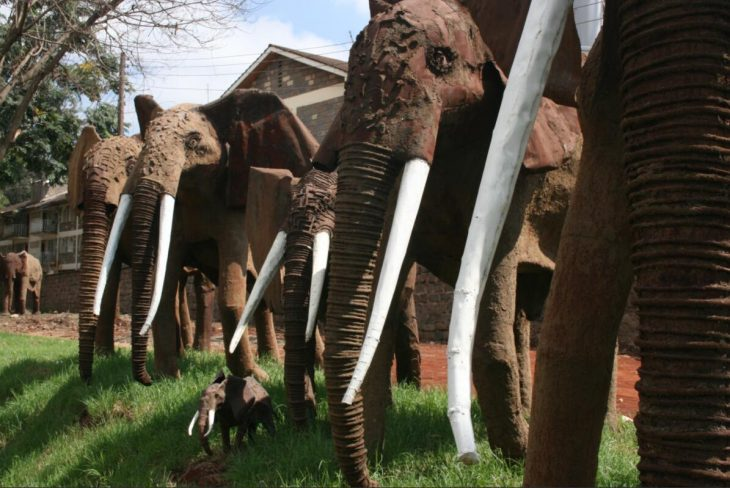 the elephants at the Westgate Roundabout are harmless