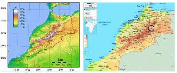 Morocco Topography