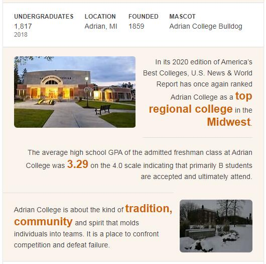 Adrian College History