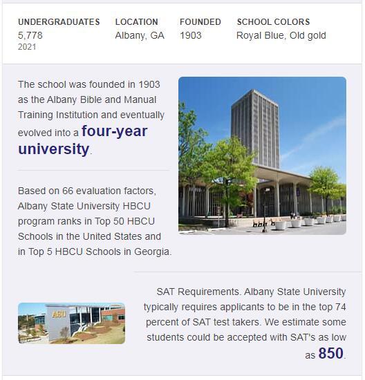 Albany State University History