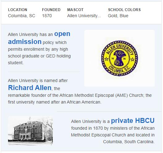 Allen University History