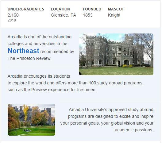 Arcadia University History