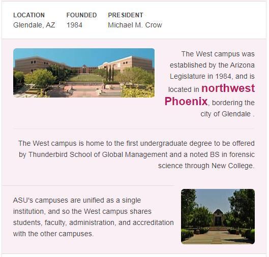 Arizona State University-West History