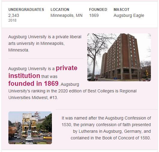 Augsburg College History