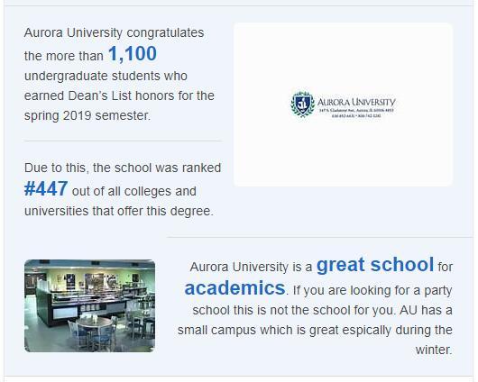 Aurora University History