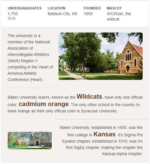 Baker University History