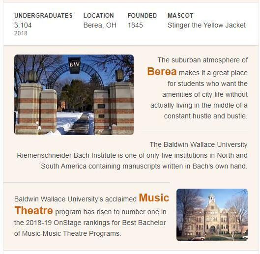 Baldwin-Wallace College History