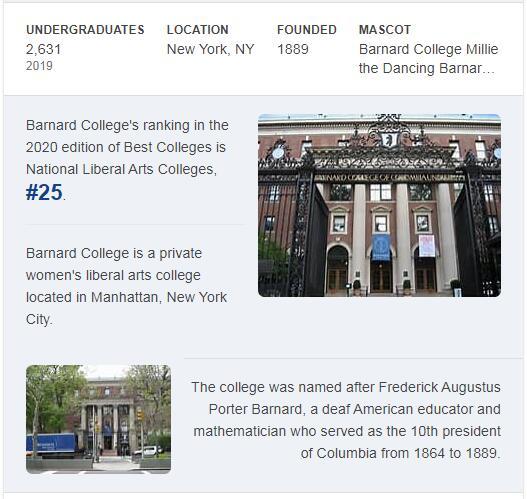 Barnard College History