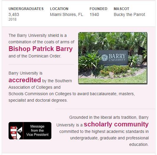 Barry University History