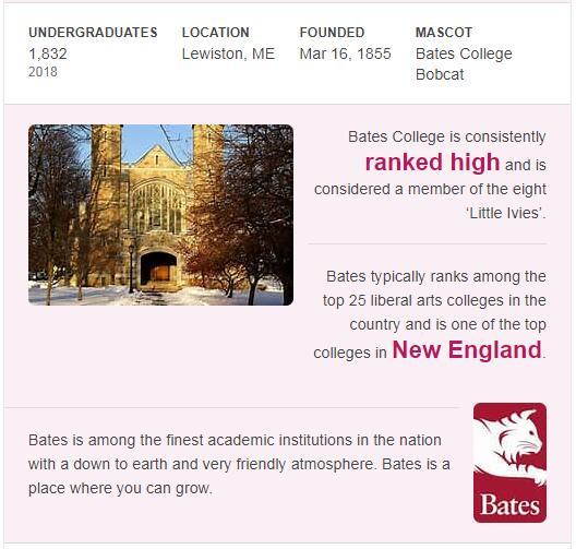 Bates College History