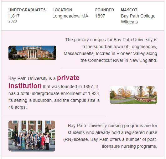Bay Path College History