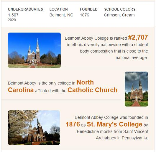 Belmont Abbey College History