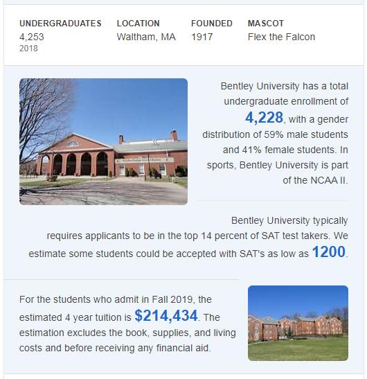 Bentley University History