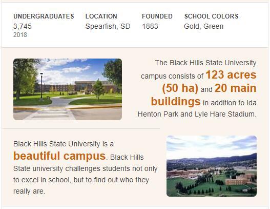 Black Hills State University History
