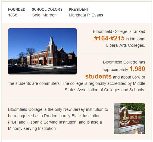Bloomfield College History