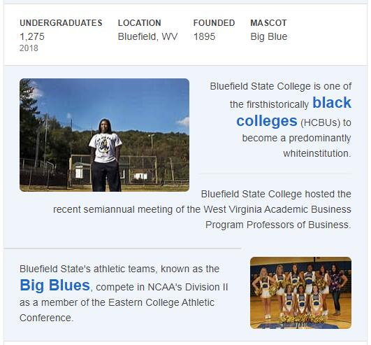 Bluefield State College History