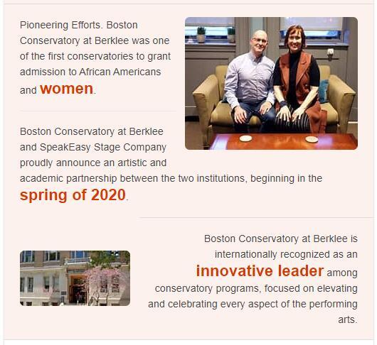 Boston Conservatory History