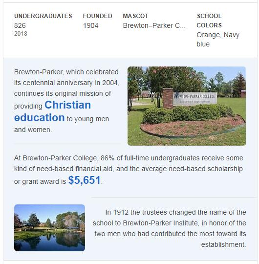 Brewton-Parker College History