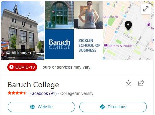 CUNY-Baruch College History